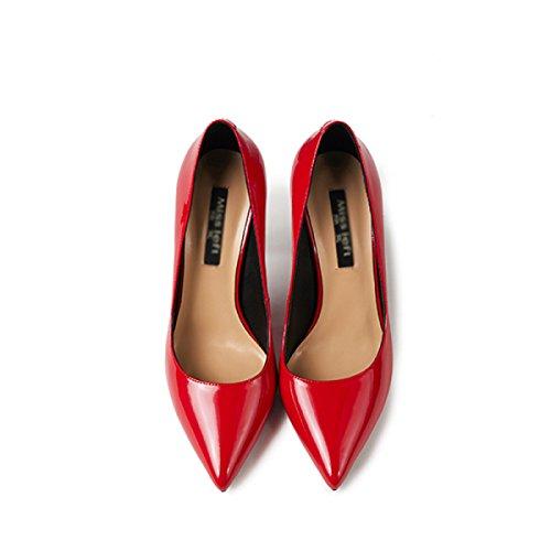 Schuhe Hohen Hohen Schuhe Mit Mit Rot Brautschuhe Court Schuhe Absätzen Absätzen Absätzen Shallow Damen Brautschuhe Damen Mit Hohen Schuhe Spitzen aq7vEx