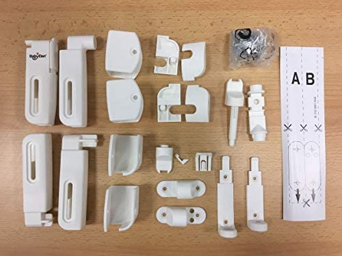 BabyDan Flexi Fit Wood Fittings Kit BabyDan Range of Stair Gates Spare Fitting Kits
