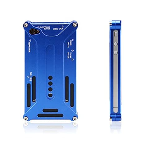 HOTER Transformer Sharp Metal Case IPHONE 4 / 4S Cover - Blue (Iphone 4 Metal Case With Screws)