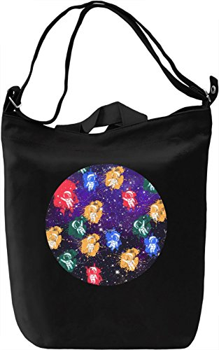 Colourful Cosmonauts Borsa Giornaliera Canvas Canvas Day Bag| 100% Premium Cotton Canvas| DTG Printing|