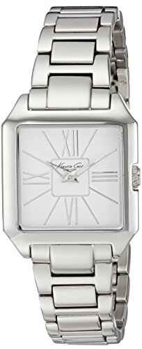 Kenneth Cole New York Women's KC4985 Square Watch (Fold Over Clasp With Hidden Double Push Button)