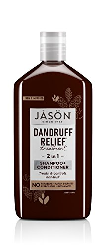 JASON Dandruff Relief 2-in-1 Treatment Shampoo and Conditioner, 12 oz. (Packaging May Vary) (Dandruff 1 Shampoo 2in)