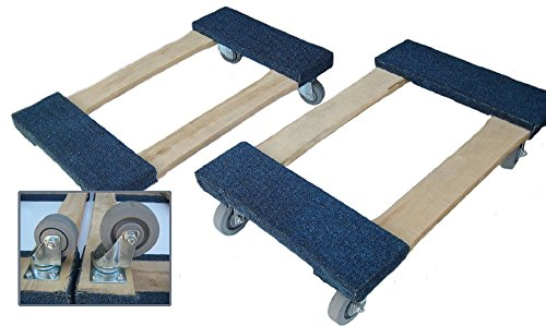 Heavy Duty Carpeted 18  X 30   3  Or 4  Casters Carpeted Moving Furniture Dolly Use For Look Good In Great Addition Home Or Garden