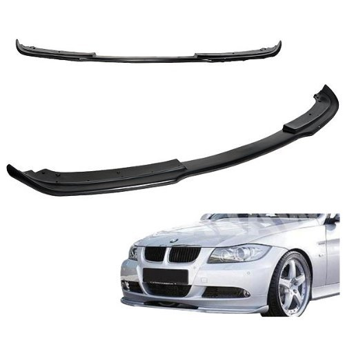 - Front Bumper Lip fits 2005-2008 BMW E90 E91 3-Series | H Style Unpainted Poly-Urethane PU Material Spoiler by IKON MOTORSPORTS