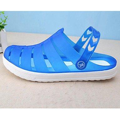 Los hombres sandalias zapatos agujero Confort Casual de resorte de goma azul Royal Azul marino caqui Planas,Azul marino Royal Blue