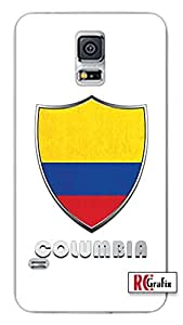 Premium Columbia Flag Badge Direct UV Printed Samsung Galaxy Note 3, Note III Quality TPU SOFT RUBBER Snap On Case for Samsung Galaxy Note 3 - AT&T Sprint Verizon - White Case