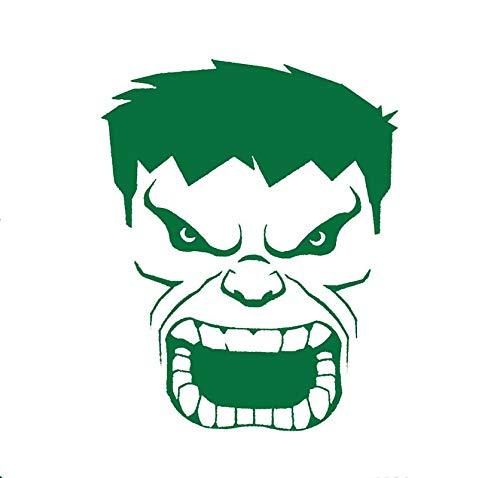 CCI Hulk Face Angry Avengers Marvel Comics Decal Vinyl Sticker|Cars Trucks Vans Walls Laptop|Green|5.5 x 3.8 -