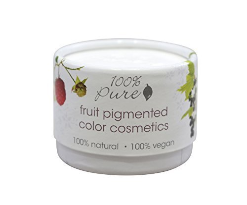 (100% Pure: Fruit Pigmented Halo Satin Eye Shadow, .12 oz, Colored with All Natural, Organic Antioxidant and Vitamin Rich Fruit Pigments by 100% Pure)