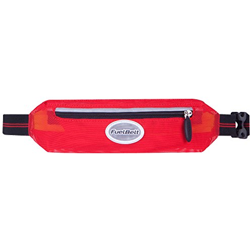 FuelBelt Helium Super Stretch Waistpack, Black/Rush Red For Sale
