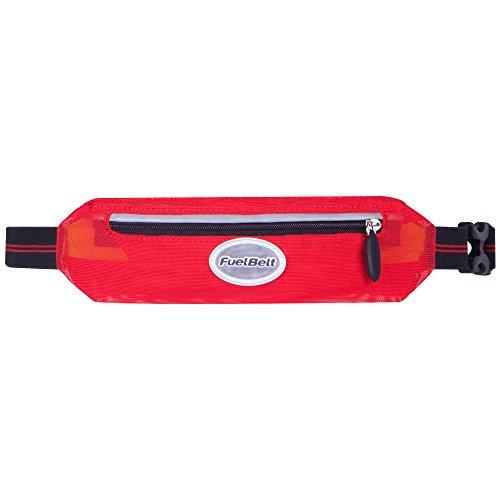 FuelBelt Hüftgurt mit Stretch-Tasche Helium Super Waist Pack, Black/Red, 0873855002532
