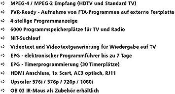 Wisi Or 152 F Dvb C Hd Receiver Pvr Usb Hdd Ready Elektronik
