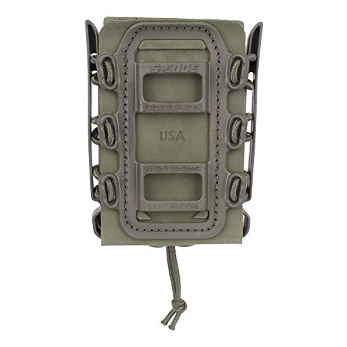 (G-CODE Rifle Soft Shell Scorpion Mag Carrier (OD Green) with Molle Mount Attachment 100% Made in USA)