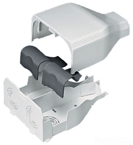 Panduit T45EEIW Power Rated Raceway Entrance End Fitting, Off White Ceiling Entry Raceway Fitting