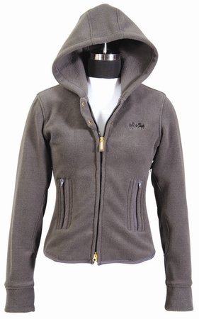 Equine Couture Women's Canyon Fleece Jacket, Charcoal, Medium