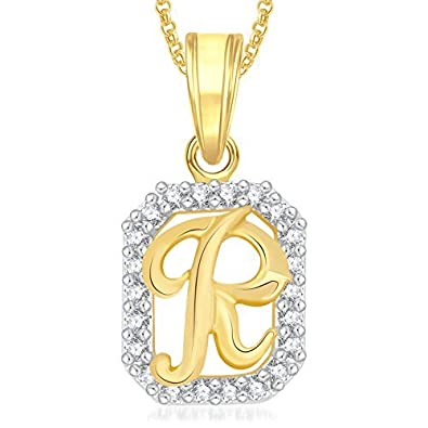 buy valentine gifts meenaz gold r letter alphabet heart love fancy