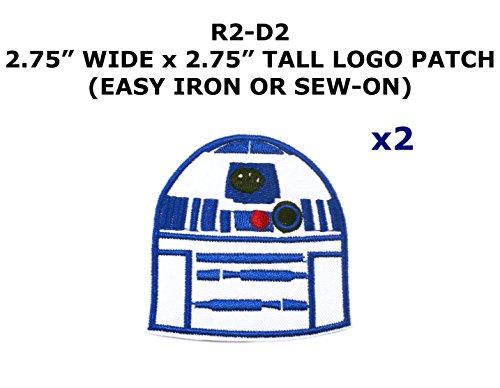 2 PCS R2-D2 Star Wars Theme DIY Iron / Sew-on Decorative Applique Patches (R2d2 Diy Costume)