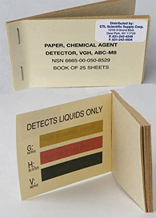 m9 paper M9 chemical detection paper overview: m9 chemical agent detection paper  is used to identify the presence of liquid chemical agent aerosols it is designed.