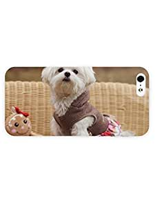 3d Full Wrap Case for iPhone 5/5s Animal Cute Puppy98 hjbrhga1544