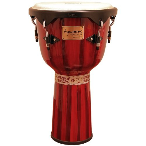 Tycoon Percussion 12 Inch Artist Series Djembe - Red Finish [並行輸入品]   B07MKX29WW