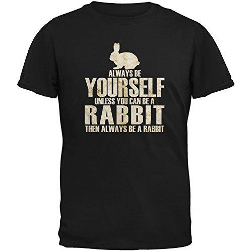 Always Be Yourself Rabbit Black Youth T-Shirt - Medium(10/12)