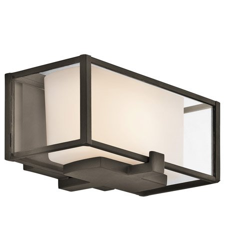 Kichler 42827OZ Isola Bathroom Light, Olde Bronze - Width: 8.26-Inch - Projection: 4.8-Inch - Height from Center of Wall Opening: 2-Inch - Height: 5-Inch - bathroom-lights, bathroom-fixtures-hardware, bathroom - 413Ejob%2BZaL -