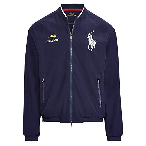 Polo Ralph Lauren Men's US Open Linesman Windbreaker Jacket (Navy, - Lauren Ralph Jacket Sports