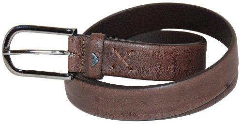 Armani Jeans SU6123 E1 ceinture en cuir pour homme Marron