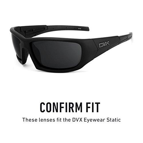 Verres de rechange pour DVX Eyewear Static — Plusieurs options Noir - Non-Polarisés