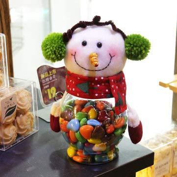 Christmas 2017 Candy Jar Santa Claus Snowman Kids Christmas Gift Christmas Desktop Ornaments - Festival Gifts & Party Supplies Christmas Sale - (Snowman) - 1 x Candy Jar]()
