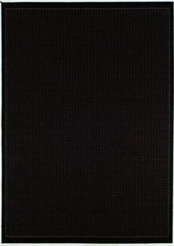 Duracord Outdoor Rug (Couristan 1001/2000 Recife Saddle Stitch Black/Cocoa Rug, 2-Feet by 3-Feet 7-Inch)