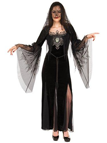 Rubie's Costume Co Women's Mourning Maiden Costume, Black, -