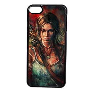 Custom made Case,Tomb Raider Cell Phone Case for iPod touch 6,Black Case With Screen Protector (Tempered Glass) Free S-7255679