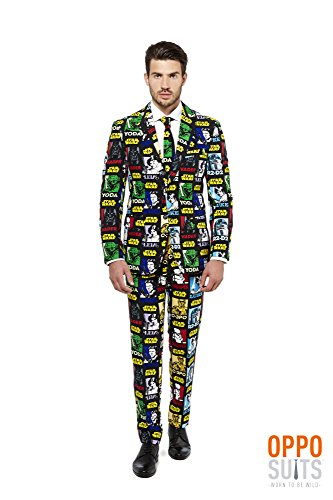 Mens 'Strong Force' Party Suit and Tie by OppoSuits, 52