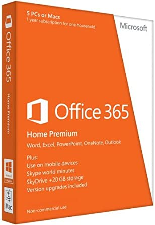 Microsoft Office 365 - Paquete Hogar, Para Windows, Para 5 PCs, 1 Año: Amazon.es: Software