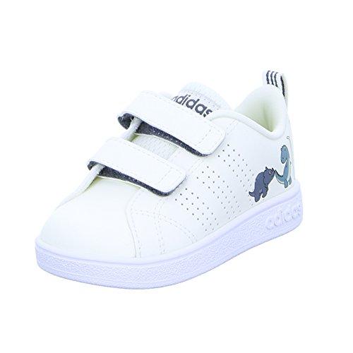 Adidas Tenis VS Advantage para Bebés, Zapatos Primeros Pasos, color Blanco, Talla 16