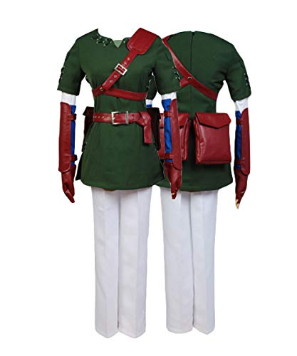 Ya-cos The Legend of Zelda Link Cosplay Costume Suit New Version Dark Green -