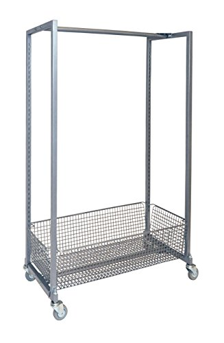 IRSG DRR-36 IRSG Adjustable Hang Rail Display Rack, 500 lb. Load Capacity, 16'' Width x 36'' Length x 55'' Height by Irsg
