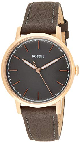 Fossil Women's Neely Quartz Leather Watch, Color: Grey, 16 (Model:...