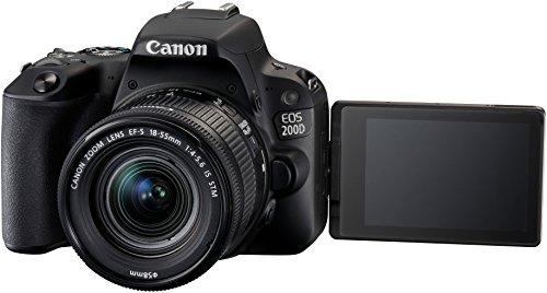 Canon EOS 200D Fotocamera Digitale Reflex con Obiettivo EF-S 18-55mm f/4-5.6 IS STM, Nero 2 spesavip