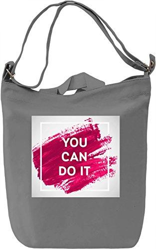 You Can Do It Print Borsa Giornaliera Canvas Canvas Day Bag| 100% Premium Cotton Canvas| DTG Printing|