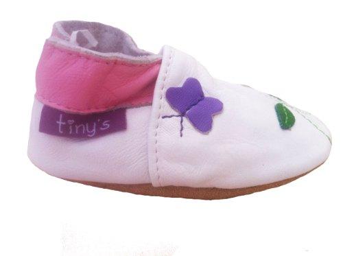 Tinys - Lauflernschuhe Krabbelschuhe Babyschuhe - Weiß Marienkäfer - 18-24 Monate 19
