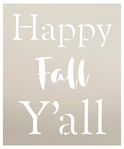 Happy Fall Y'all - Basic - Word Stencil - STCL2101 - by StudioR12 ... (8