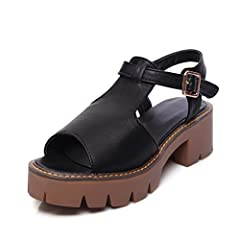 Dahanyi Stylish New New Fashion Women Sandals Thick High Heels Sandals Women Summer Shoes Woman Casual Ladies Shoes Black White Gray