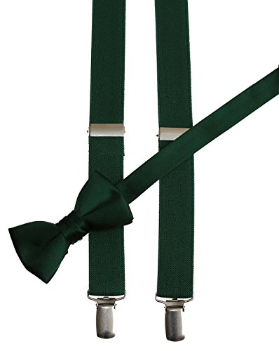 Matching Forest Adjustable Suspender and Bow Tie Sets, Kids to Adults Sizing (25