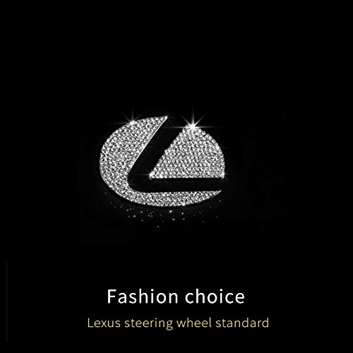 As picture Diamonds Crystal Steering Wheel Logo Sticker Emblem for Lexus es es200 nx nx200 rx Interior Car Styling