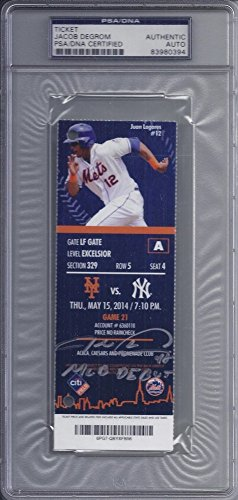Jacob Degrom Signed Autograph New York Mets MLB Debut Ticket PSA/DNA Certified