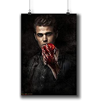 ONE PIECE POSTER STEFAN ELENA AND DAMON VAMPIRE DIARIES WALL ART
