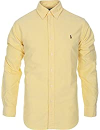 Amazon.com: Yellow - Casual Button-Down Shirts / Shirts: Clothing ...