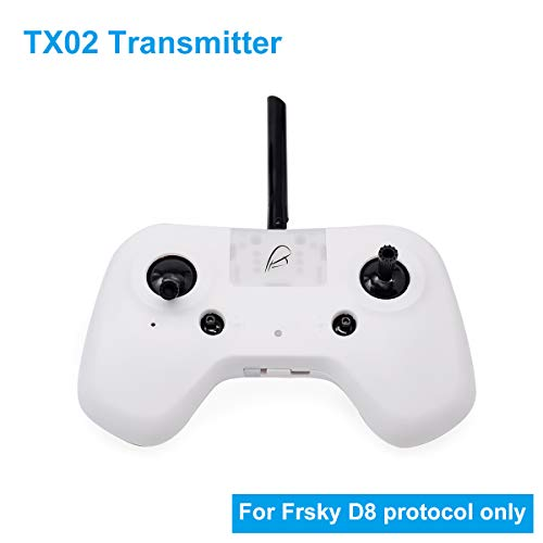 Betafpv TX02 Digital Radio Transmitter 2.4G 8CH Frsky White for Frsky D8 Protocol DIY RC Drone FPV Multicopter Like Beta75 Frsky Version etc