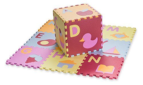 HemingWeigh Kid's Multicolored Alphabet + Shapes Puzzle Play Mat - Soft and Safe EVA Foam - Excellent for Day Care's, Play Rooms, Baby rooms, and playgrounds - Alphabet Puzzle Mat